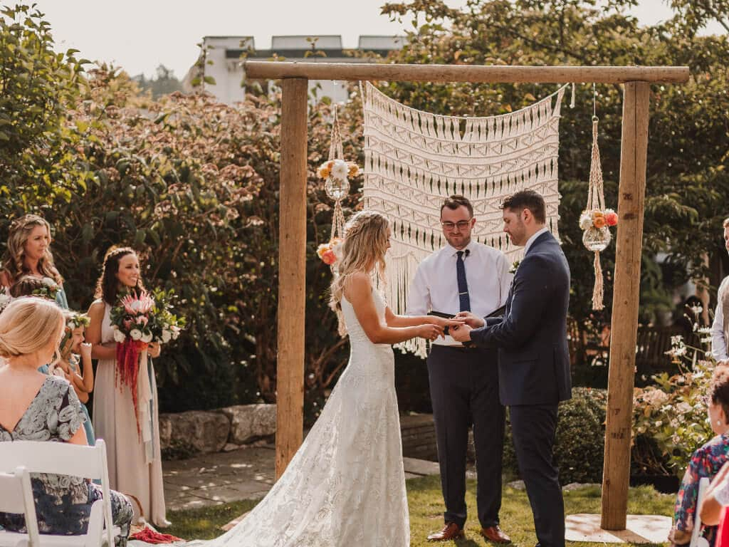 Garden wedding at Roche Harbor